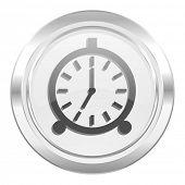 alarm metallic icon alarm clock sign