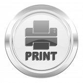 printer metallic icon print sign