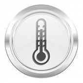 thermometer metallic icon temperature sign