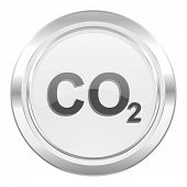 carbon dioxide metallic icon co2 sign