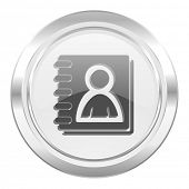 address book metallic icon