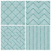 Set of four line on square patterns
