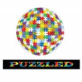 Puzzle Ball  With Text