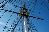 stock photo of uss constitution  - USS Constitution in Boston on a nice clear day - JPG
