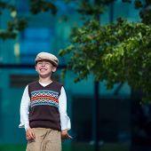 Cheerful smiling boy