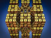 pic of mandelbrot  - By computer generated surreal 3d mandelbrot fractal - JPG