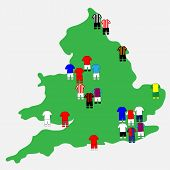 English League Clubs Map 2013-14