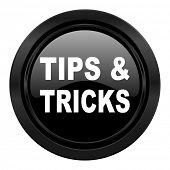 tips tricks black icon