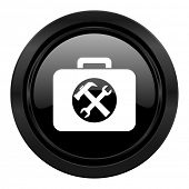 toolkit black icon service sign