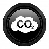 carbon dioxide black icon co2 sign