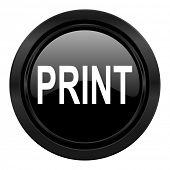 print black icon