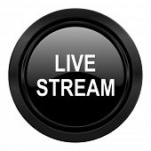 live stream black icon
