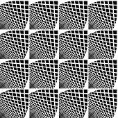 pic of quadrangles  - Design seamless monochrome checked geometric pattern - JPG