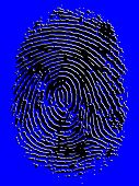image of fingerprint  - Embossed Vector Fingerprint - JPG