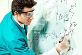 picture of conduction  - Young scientist conducting research - JPG