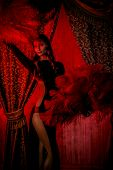image of cabaret  - Beautiful dancer on the stage of cabaret - JPG