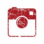 picture of megapixel  - New red grunge camera logo on a white background - JPG