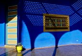 foto of asilah  - Nice contrast of colors in a typical home in Asilah Morocco - JPG