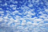 picture of cumulus-clouds  - landscape beautiful cumulus clouds against a blue sky on a sunny day - JPG