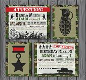 picture of army  - Camo Army Birthday Invitation  - JPG