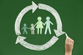 picture of blackboard  - Family concept on blackboard Concepts and ideas on blackboards - JPG