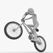 3D Man With Bike