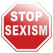 stock photo of gender  - stop sexism no gender discrimination for women or men - JPG