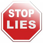 stock photo of tell lies  - no more lies stop lying tell the truth - JPG