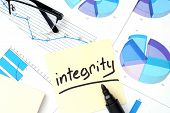 stock photo of integrity  - Papers with graphs - JPG