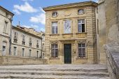 stock photo of avignon  - Place in front Collegiate Church of Saint Agricola of Avignon  - JPG
