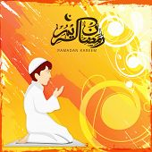 foto of namaz  - Cute Muslim boy reading Namaz  - JPG