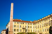 picture of turin  - The Obelisk on Piazza Savoia in Turin  - JPG