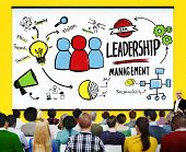 stock photo of idealistic  - Leadership Leader Management Authority Director Concept - JPG