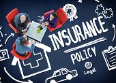 stock photo of insurance-policy  - Insurance Policy Help Legal Care Trust Protection Protection Concept - JPG