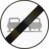 foto of rear-end  - Austrian traffic sign - JPG