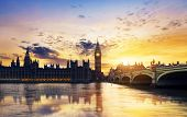 pic of big-ben  - Big Ben and Houses of parliament at dusk London UK