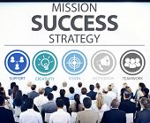 picture of strategy  - Mission Success Strategy Achievement Strategy Concept - JPG