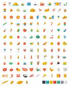 pic of meat icon  - A number of food and beverages  - JPG