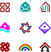 stock photo of foundation  - Real estate foundation great building house construction abstract logo icon - JPG