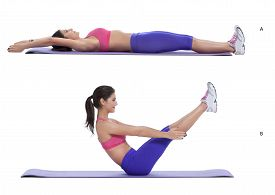 foto of lifting-off  - Lie on the ground with your legs straight and feet together - JPG