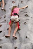 Girls Rock Climbing 3