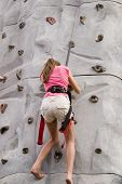 Girls Rock Climbing 4