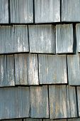 Weathered Wooden Shingles poster