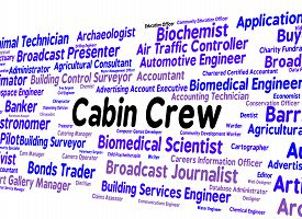 image of cabin crew  - Cabin Crew Meaning Airline Stewardess And Jobs - JPG