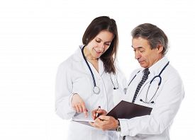 image of wrangler  - An Experienced Doctor Explains The Diagnosis To The Girl With The Wrangler - JPG