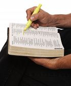stock photo of bible verses  - close - JPG