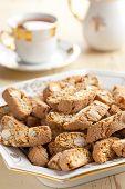 Italian Cantuccini Cookies With Tea