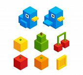 Постер, плакат: Isometric Objects For Video Game