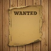 Wanted, wild west, grunge, old poster. poster