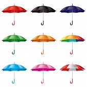 umbrellas in different colours